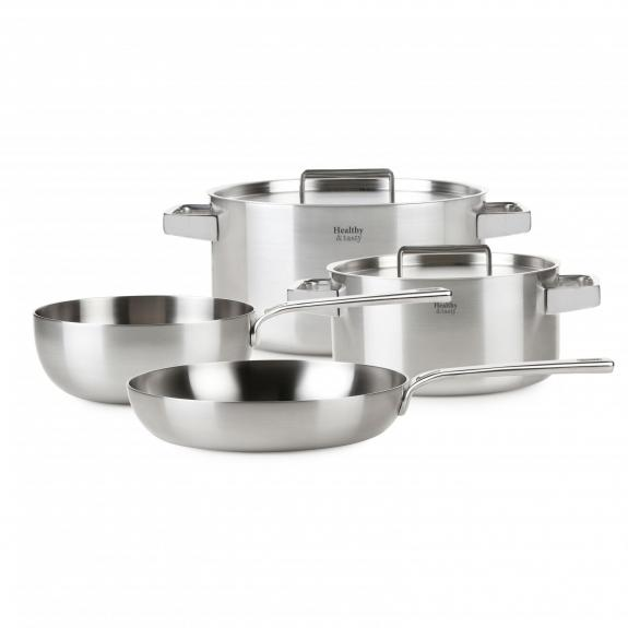 Set: Frypan, Sauce pan, 2 x Casserole with lid - HT1007