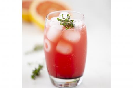 Spicy mocktail with blood orange